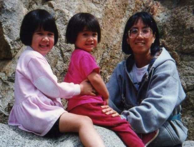 Steffi, Mindy, and me in 1996