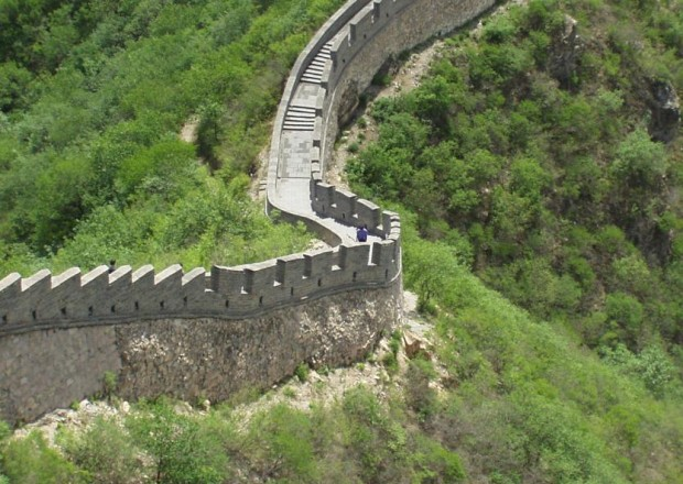 The tiny figure in the middle is me walking on the Great Wall in 2002.